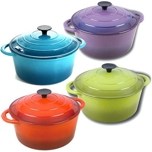 cast iron dutch oven cooking indoors