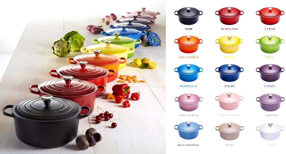 Le Creuset color combinations