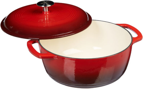 amazonbasics enameled cast iron