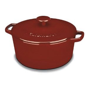cuisinart cast iron vs le creuset