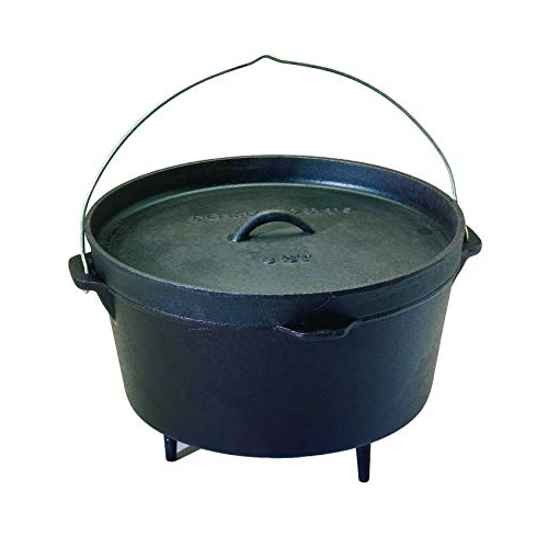 Texsport Cast Iron Dutch Oven with Legs