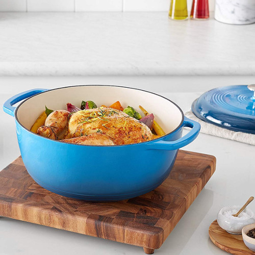 amazonbasics enameled cast iron dutch oven