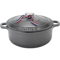 CHASSEUR 5.5 quart Enameled Cast Iron Round Dutch Oven