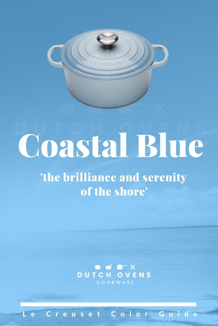 le creuset coastal blue