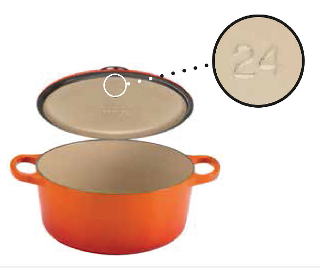 le creuset dutch oven numbers