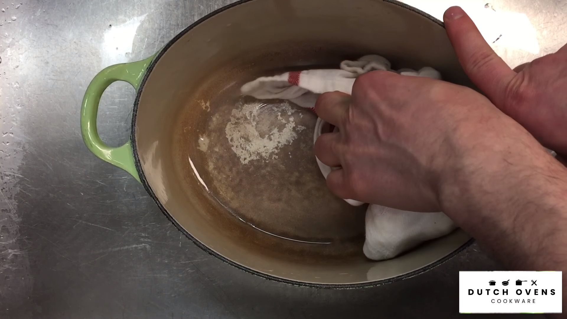 how to clean an enamel dutch oven