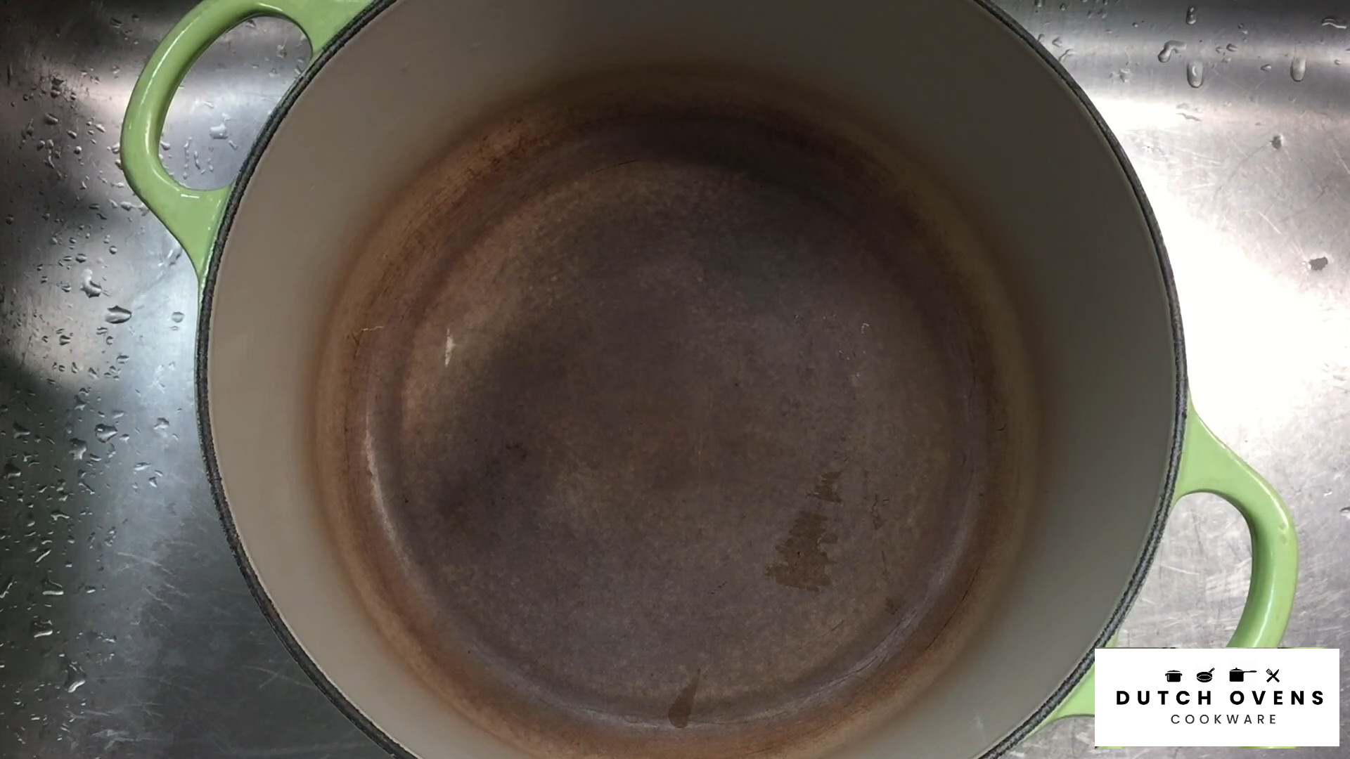how to clean outside of enameled cast iron