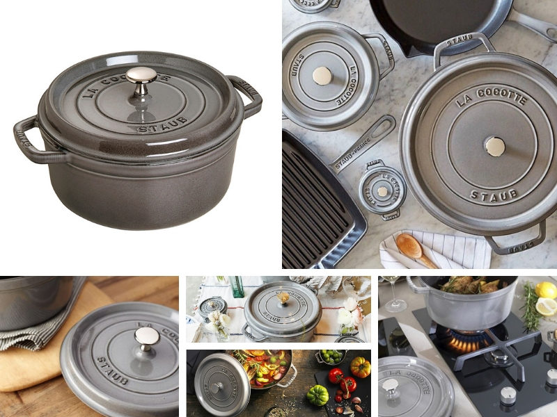 staub graphite grey color