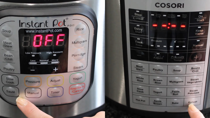 instant pot vs cosori pressure cooker