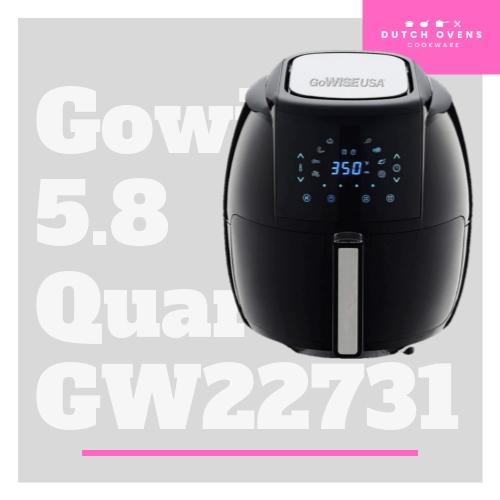 gowise usa 5.8 quarts air fryer gw22731