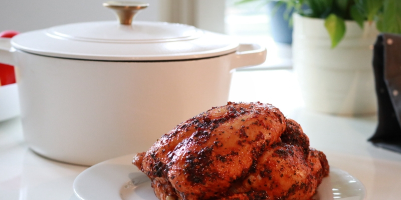 what size Dutch oven do I need for a roast chicken