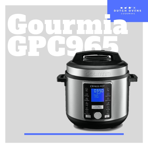 gourmia - 6-quart pressure cooker - stainless
