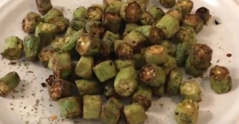 frozen breaded okra in air fryer