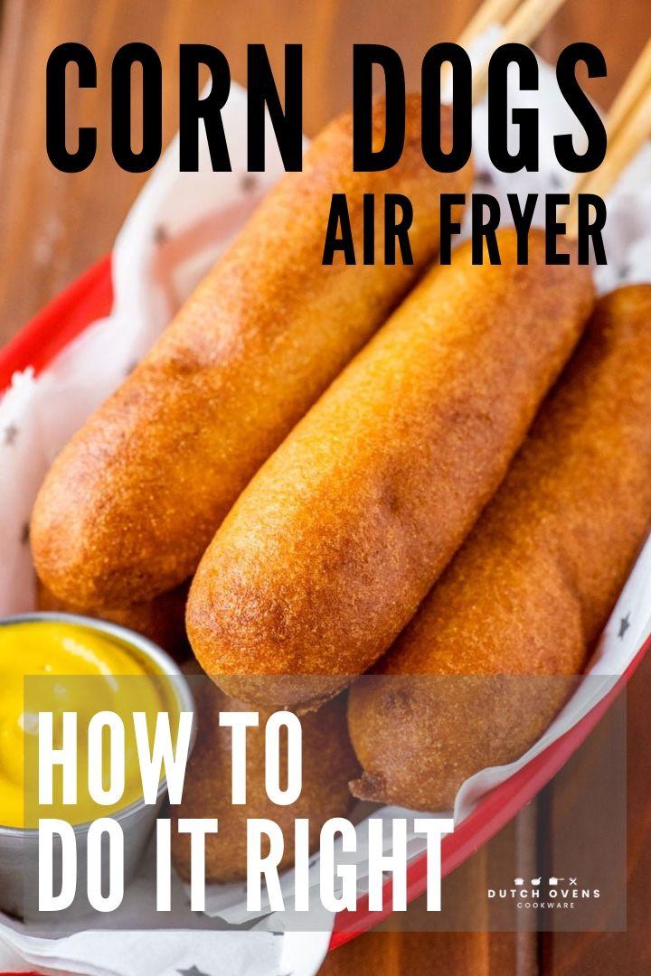 how long do you cook frozen corn dogs in an air fryer