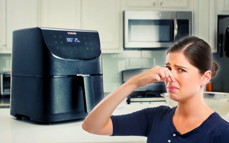 why does my air fryer smell